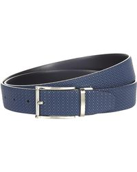 Canali - Diamond Embossed Reversible Belt - Lyst