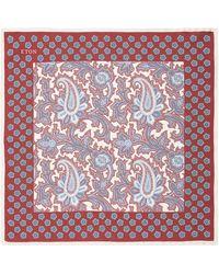 Eton of Sweden - Silk Paisley Pocket Square - Lyst