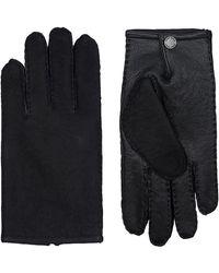 BOSS - Suede Gloves - Lyst
