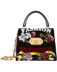 Dolce & Gabbana - Small Welcome Flock Top Handle Bag - Lyst