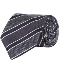 Canali - Striped Silk Tie - Lyst
