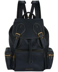 Burberry - Leather Backpack - Lyst