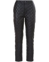 FRAME - Quilted Leather Trousers - Lyst