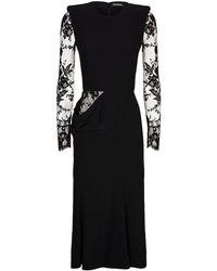 Alexander McQueen - Lace Cut-out Dress - Lyst