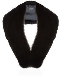 Harrods - Large Fox Fur Roll Collar - Lyst