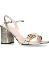 be9a30aeedf Lyst - Gucci Marmont Metallic Mule Sandal in Metallic