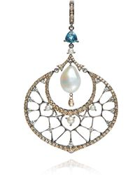 Annoushka - White Gold Diamond And Pearl Pendant - Lyst