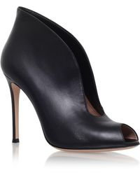Gianvito Rossi - Lombardy Leather Ankle Boots - Lyst