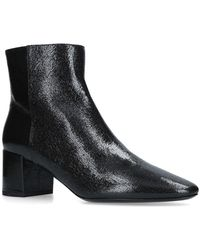 Saint Laurent - Leather Loulou Ankle Boots 50 - Lyst