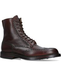 Crockett and Jones - Leather Islay Brogue Boots - Lyst
