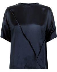 Vince - Silk Raw Edge T-shirt - Lyst
