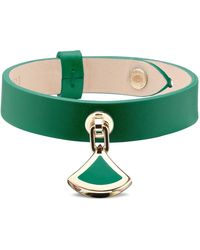 BVLGARI - Leather Divas' Dream Bracelet - Lyst