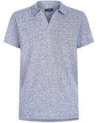 J.Lindeberg - Cotton-linen Polo Shirt - Lyst