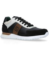 Fendi Embroidered Colorblock Sneakers - White
