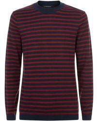 J.Lindeberg - Striped Knit Sweater - Lyst