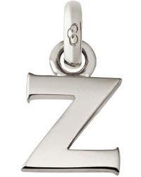 Links of London - Sterling Silver Letter Z Charm - Lyst