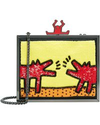 Alice + Olivia - Abbey Embellished Clutch - Lyst