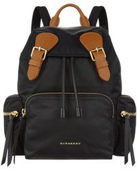 Burberry - Buckled Rucksack - Lyst