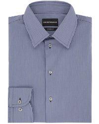 Emporio Armani - Micro Check Shirt - Lyst