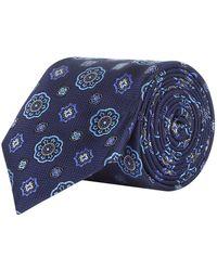 Canali - Mini Mosaic Silk Tie - Lyst