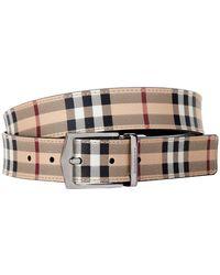 Burberry - Haymarket Check Belt - Lyst