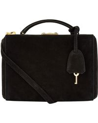 Mark Cross - Small Grace Suede Box Bag - Lyst