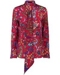 Etro - Necktie Floral Shirt - Lyst