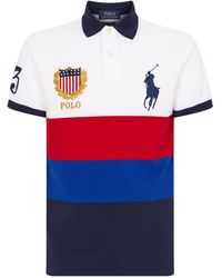 37f511120 Polo Ralph Lauren Colour Block Bear Polo Shirt in Black for Men - Lyst