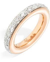 Pomellato - Medium Rose Gold And Pav Diamond Ring - Lyst