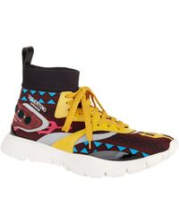 Valentino - Speed Knit High-top Sneakers - Lyst