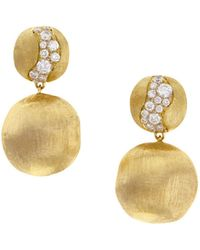 Marco Bicego - Yellow Gold Africa Drop Earrings - Lyst