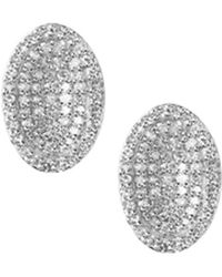Links of London - Sterling Silver And Diamond Concave Earrings - Lyst