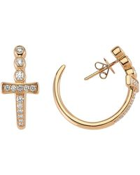 Bee Goddess | Sword Of Light Earrings, White, One Size | Lyst