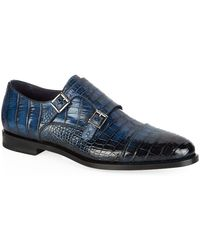 Santoni - Alligator Monk Shoe - Lyst
