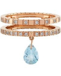 Diane Kordas - Topaz Double Band Ring - Lyst