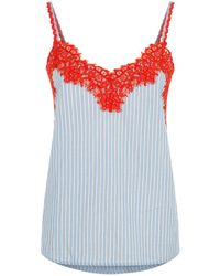 Pinko - Lace Trim Camisole Top - Lyst