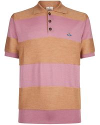 Vivienne Westwood - Striped Polo Shirt - Lyst