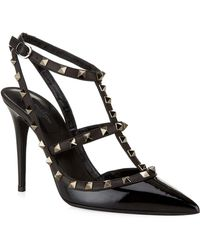 Valentino - So Noir Patent Court Shoes 100 - Lyst