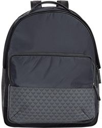 5c110b61c97a Lyst - Emporio Armani Embossed Large Eagle Backpack In Black in ...