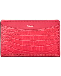 Cartier - C De Crocodile Card Holder - Lyst