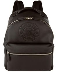DSquared² - Embossed Logo Leather Backpack - Lyst