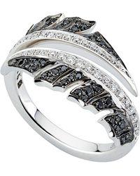 Stephen Webster - White Gold Magnipheasant Pav Diamond Split Ring - Lyst
