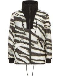 Stone Island - Zebra Print Coat - Lyst