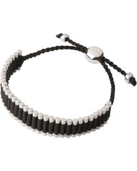Links of London - Black and Copper Friendship Bracelet - Lyst