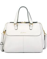 Cath Kidston - Leather Henshall Bag, White - Lyst
