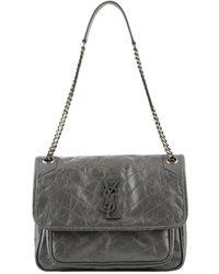 Lyst - Saint Laurent Classic Monogram Quilted-Leather Shoulder Bag ... b5ca49717a3f8