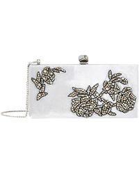 Jimmy Choo - Velvet Celeste Floral Embellished Clutch Bag - Lyst