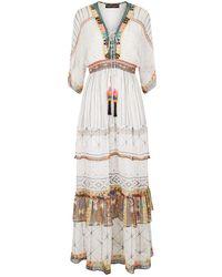 Hemant & Nandita - Tiered Maxi Dress With Tassels - Lyst