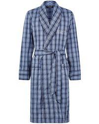 Harrods - Plaid Cotton Robe - Lyst