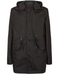 Fred Perry - Hooded Longline Parka - Lyst